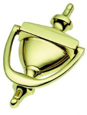 Victorian Urn Knocker in Polished Brass